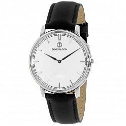 James and Son JAS10051-203 Black Slim Watch
