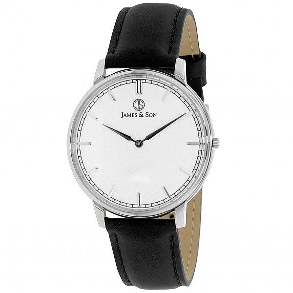 Изображение на часовник James and Son JAS10051-203 Black Slim Watch