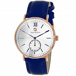 James and Son JAS10071-808 Blue Slim Watch
