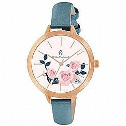 Olivia Westwood BOW10022-817 Blue Leather Flowers