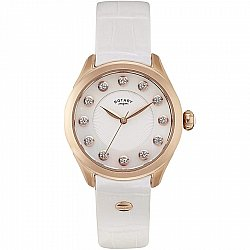Rotary Donna Stones LS012/W/41 Rose Gold