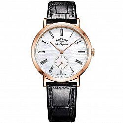 Rotary Windsor Small Second Swiss Made LS90193/41