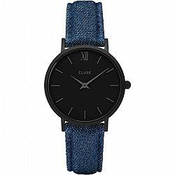 Cluse Minuit Black Denim Blue CL30031
