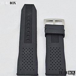 Силиконова каишка 22мм за мъжки часовник черен 001