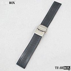 Силиконова каишка 20мм за мъжки часовник черен 008