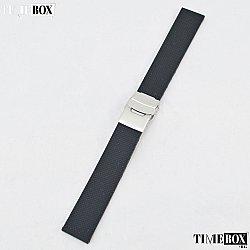 Силиконова каишка 20мм за мъжки часовник черен 009