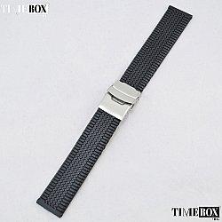 Силиконова каишка 20мм за мъжки часовник черен 011