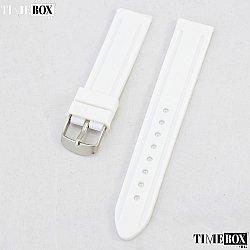 Силиконова каишка 22мм за мъжки часовник бял 018