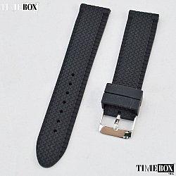 Силиконова каишка 20мм за мъжки часовник черен 032