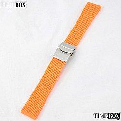 Силиконова каишка 22мм за мъжки часовник оранжев 048