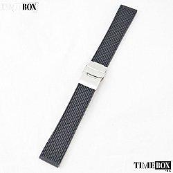 Силиконова каишка 20мм за мъжки часовник черен 062