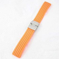 Силиконова каишка 22мм за мъжки часовник оранжев 066