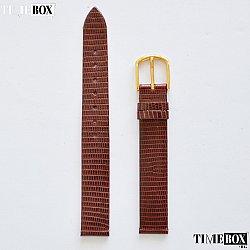 Кожена каишка 14мм за дамски часовник кафяв 114