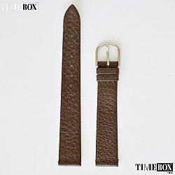 Кожена каишка 14мм за дамски часовник кафяв 124