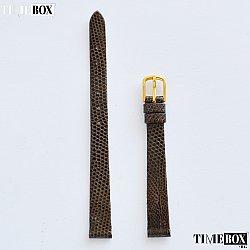 Кожена каишка 10мм за дамски часовник кафяв 128