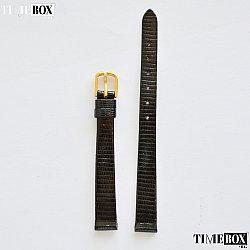 Кожена каишка 10мм за дамски часовник черен 138