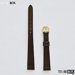 Кожена каишка 10мм за дамски часовник тъмно кафяв 208