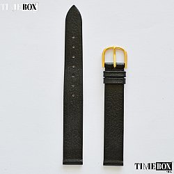 Кожена каишка 14мм за дамски часовник черен 174