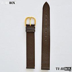 Кожена каишка 14мм за дамски часовник кафяв 176