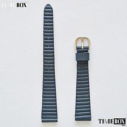 Кожена каишка 14мм за дамски часовник син 178