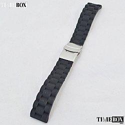 Силиконова каишка 20мм за мъжки часовник черен 005