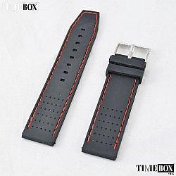 Силиконова каишка 22мм за мъжки часовник черен 045