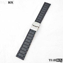Силиконова каишка 22мм за мъжки часовник черен 059