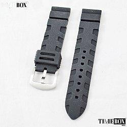Силиконова каишка 22мм за мъжки часовник черен 076